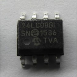 SERIAL EEPROM 24LC08B-I/SN